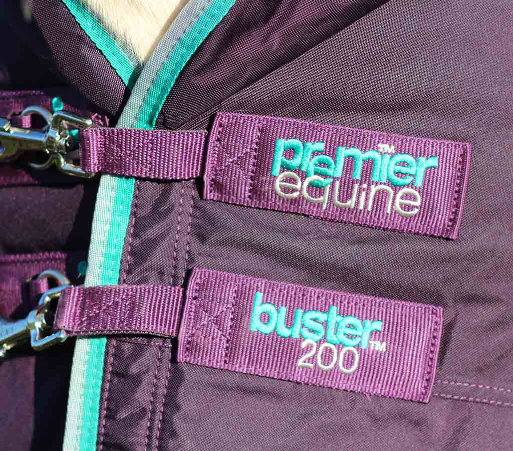 Buster 200g Turnout Rug with Neck Cover - Chest Clip Close Up