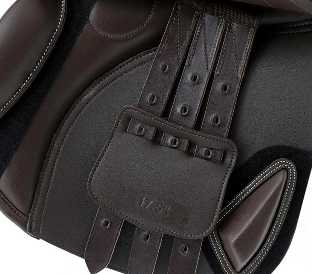 Prideaux Close Contact Jump Saddle - Brown - Girth Straps