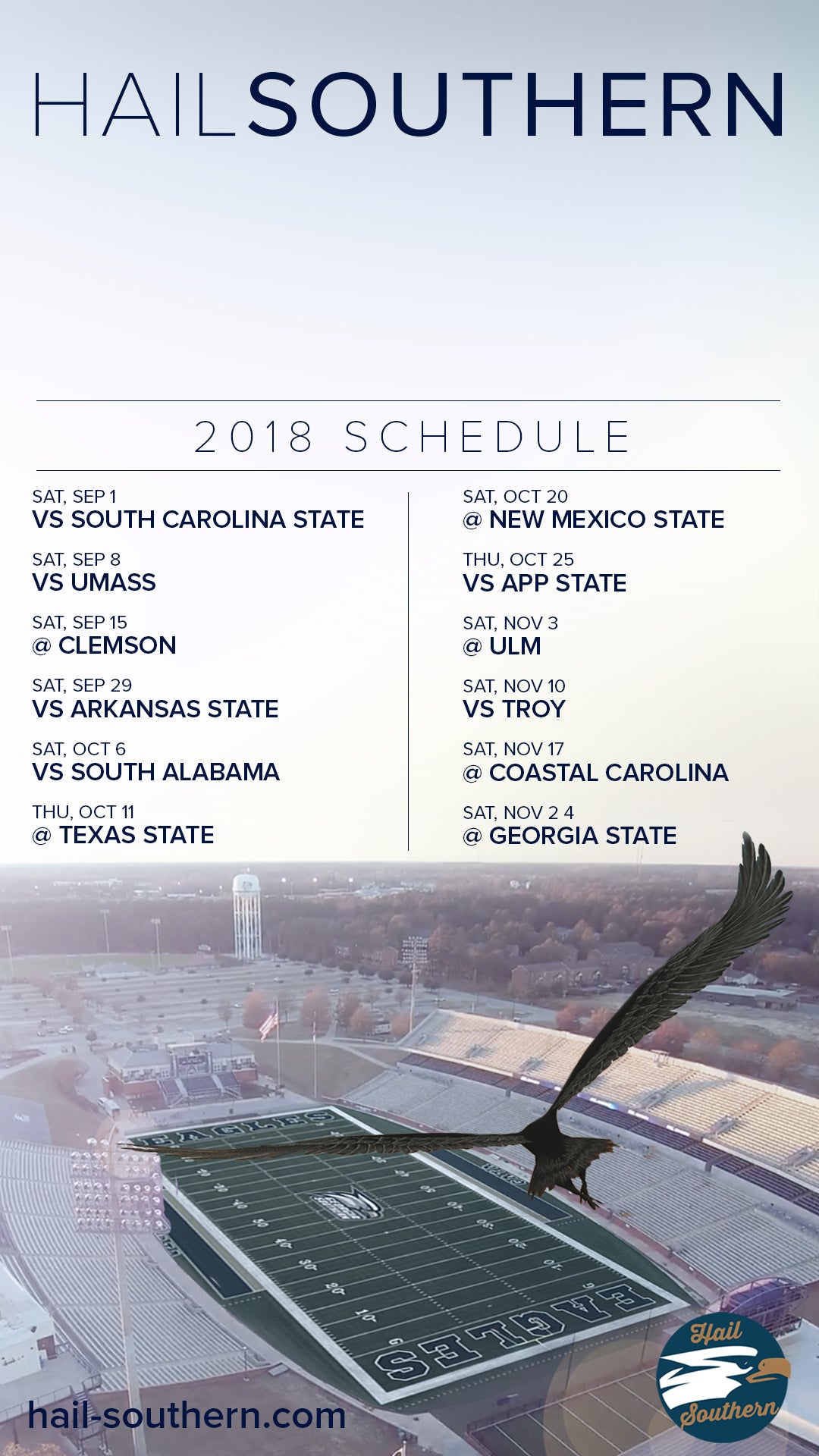 2018_Georgia_Southern_Schedule_Mobile_Wallpaper