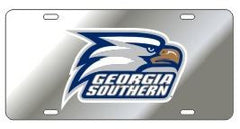 Georgia Southern Eagles Silver Acrylic Tag with Reflective Decal