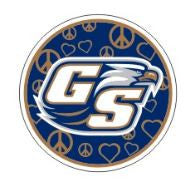 Georgia Southern Eagles 4in Circle Peace Sign Decal