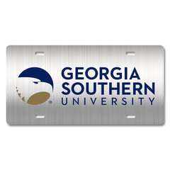 Georgia Southern University Metal Academic Logo Car Tag