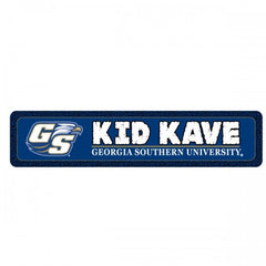 Georgia Southern Eagles Kid Cave Metal Room Sign