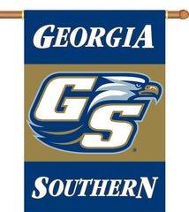 "Georgia Southern Eagles  2-Sided 28"" X 40"" Banner W/ Pole Sleeve"