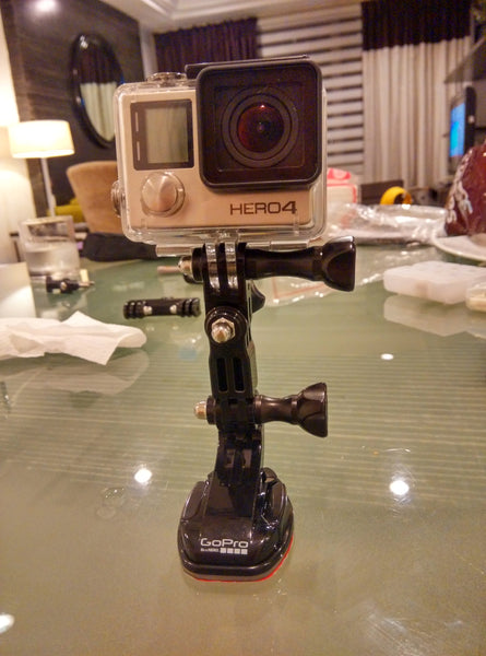 GoPro HERO4 Silver on mount