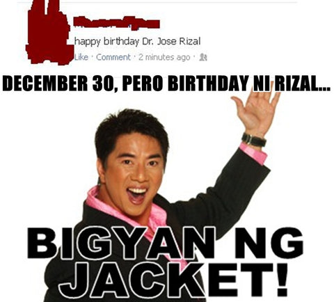 Rizal Day not Birthday