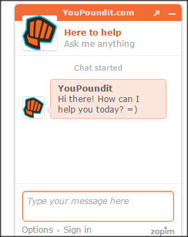 Chat Support Box