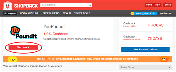 YouPoundit on Shopback