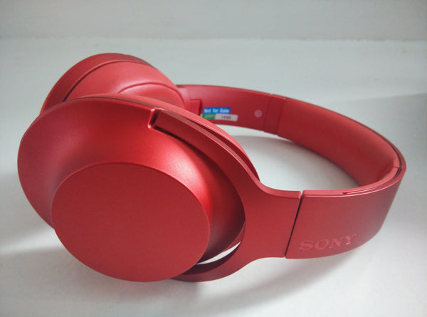 Sony MDR-100AAP Headphones - Cinnabar Red - Side View
