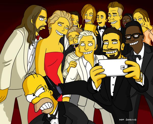 Ellen de Generes Groufie -- The Simpsons Version