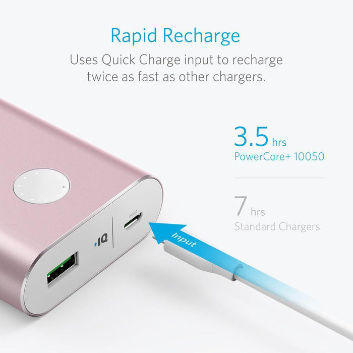 Anker PowerCore+ 10050 Portable Charger Pink - Poundit