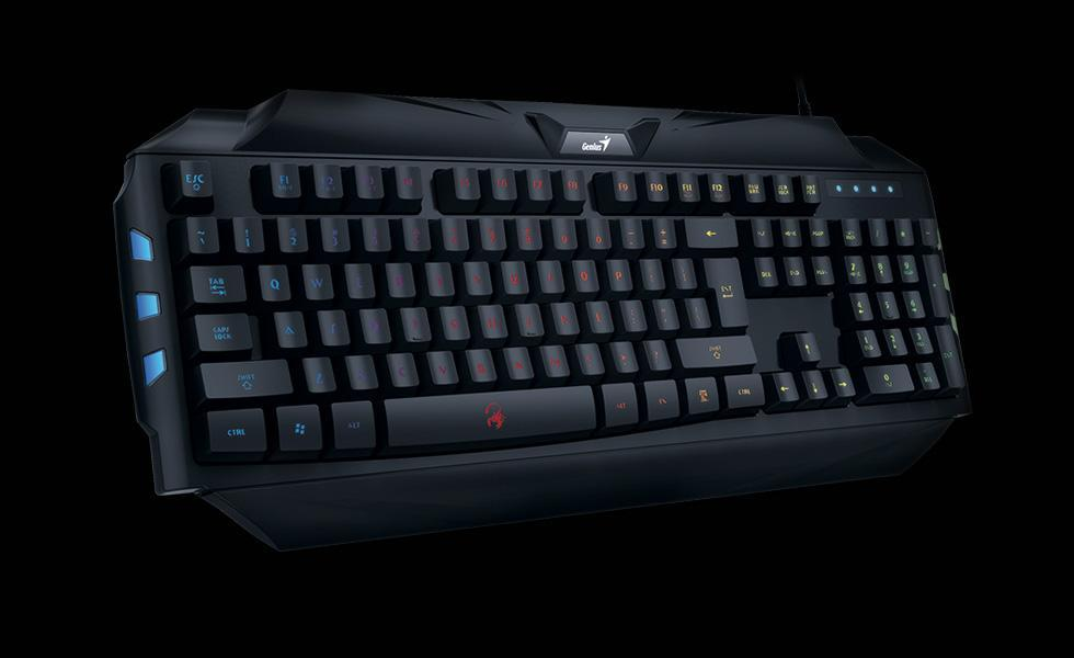 Genius GX Gaming K5 Scorpion Black 7 colors backligt 19 anti ghosting keys - Poundit