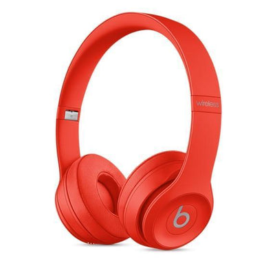 Headphones - Beats Solo3 Wireless On-Ear Headphones – Citrus Red - YouPoundit - 1