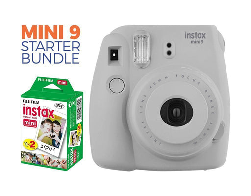 Instax Mini 9 Camera Starter Bundle- Smokey White - Poundit