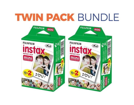 Instax Mini Film (Plain) Twin Pack Bundle - Poundit