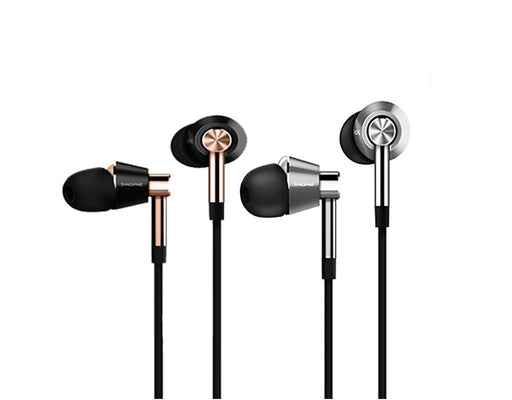 1MORE Triple-Driver In-Ear Headphones In Gold and Silver