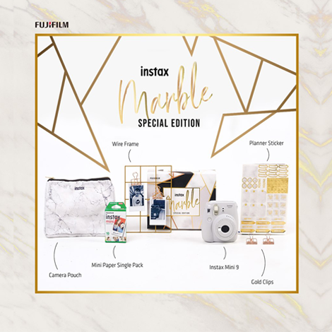 Fujifilm Instax Mini 9 Marble Package