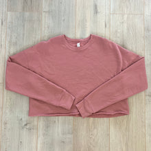 Load image into Gallery viewer, Cropped Crewneck Pink Sweater