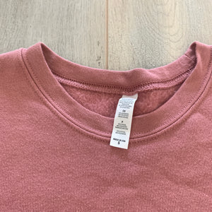Cropped Crewneck Pink Sweater