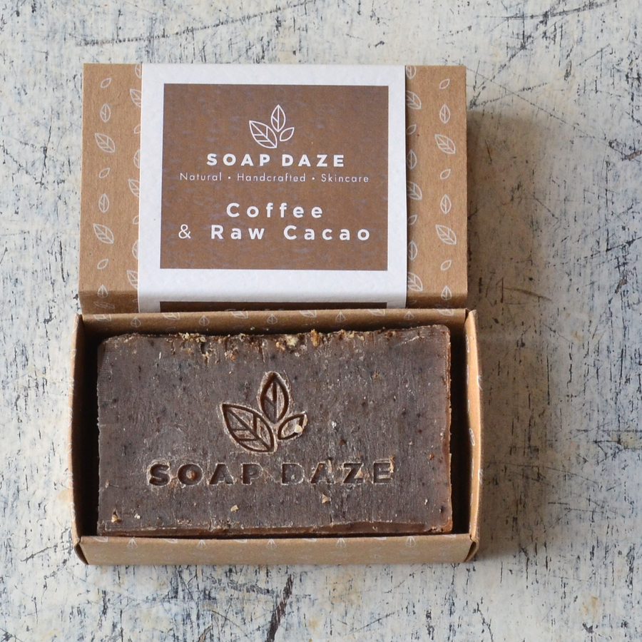 Coffee and Raw Cacao Vegan Soap Bar