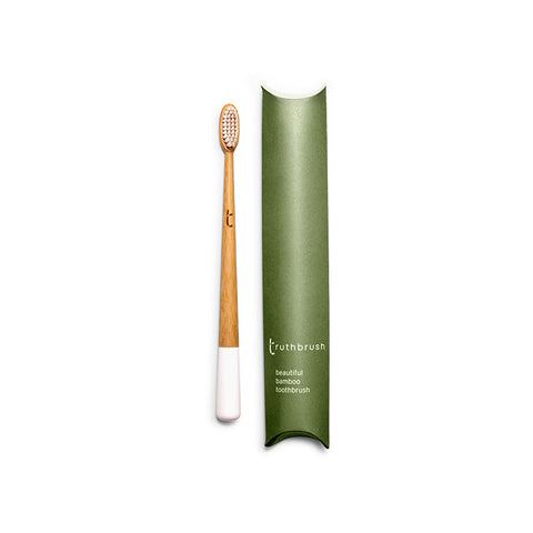 Cloud White Adult Bamboo Toothbrush