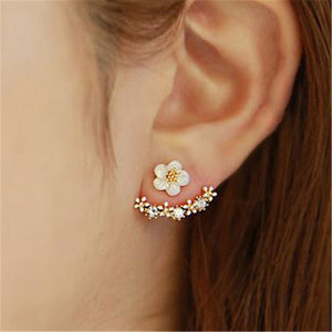 New Fashion Flower Crystal Stud Earrings