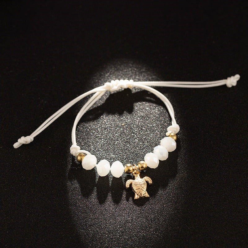 Pearl Beads Turtle Anchor 4piece Bracelet