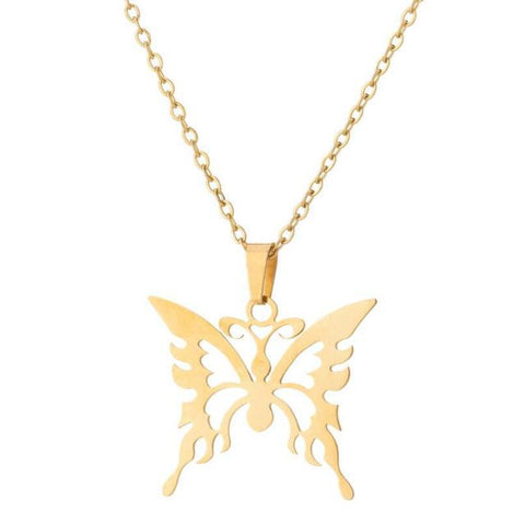 Elegant Butterfly Gold Necklace
