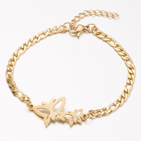 Butterfly Design Gold Bracelet