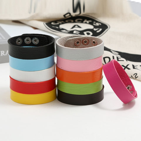 Korean Colorful Adjustable Leather Bracelets