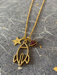 Mission Control - Gold Plated Space Rocket necklace