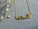 The Big Smoke - Gold Plated London City Skyline Necklace
