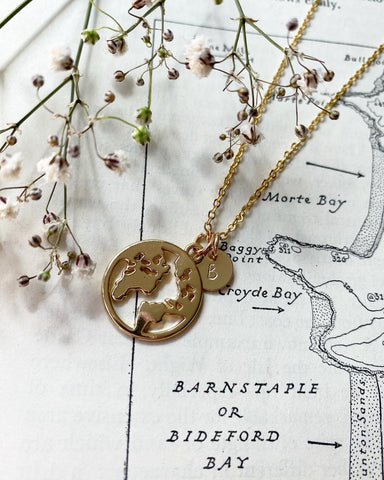 Exploration - Planet Earth Gold Plated Necklace