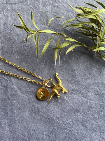 Brontosaurus - Dinosaur Gold Plated Necklace