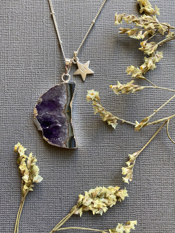 Crescent- Amethyst Moon Necklace