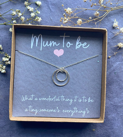 Hera, Mum to Be Necklace - Sterling Silver Ring Necklace