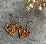 Tangled - Gold Plated Heart Earrings