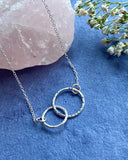 Hera, Nanny Necklace - Sterling Silver Linked Ring Necklace