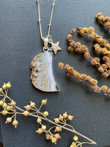 Crescent- Citrine Moon Necklace