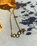Golden Honey - Gold Plated Honey Bee Necklace