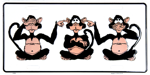 2103 - See, Hear, Speak No Evil Monkeys