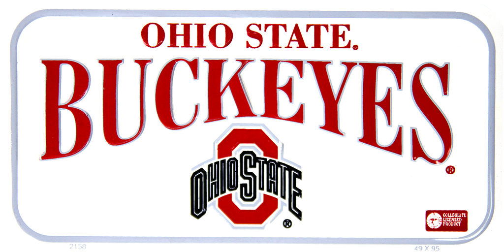 2158 - Ohio State Buckeyes Bike Plate