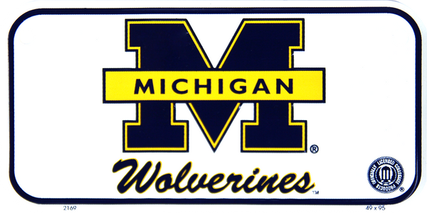 2169 - Michigan Wolverines Bike Plate