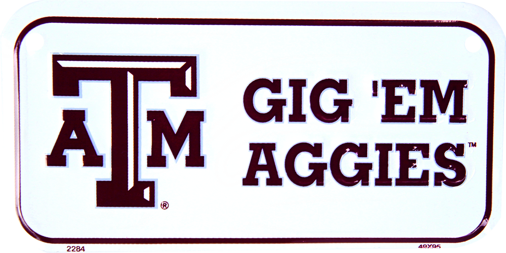 2284 - Texas A&M Gig 'Em Aggies Bike Plate