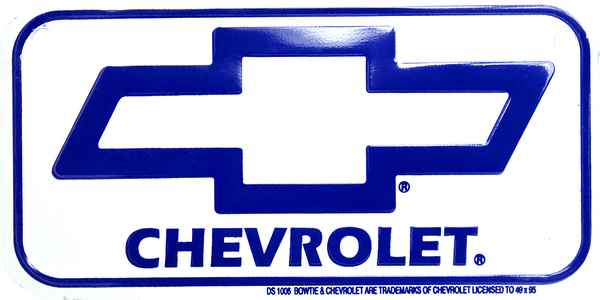 2294 - Chevrolet Bow Tie Bike Plate