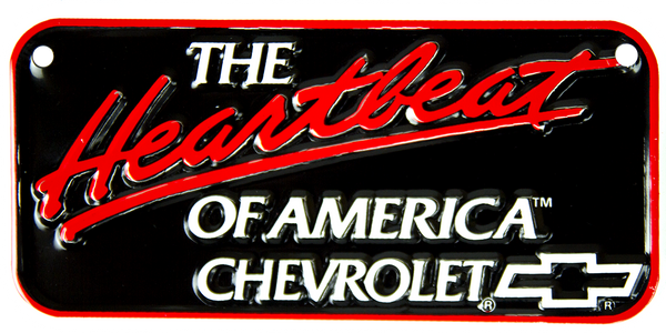 2296 - The Heartbeat of America Chevrolet Bike Plate