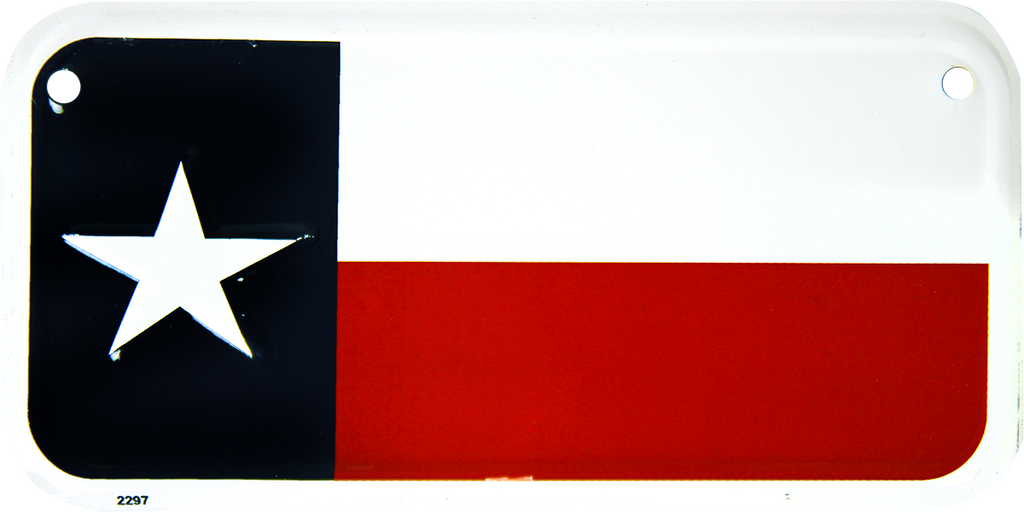 2297 - Texas Flag Bike Plate