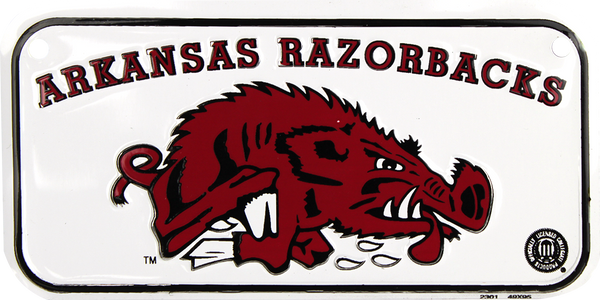 2301 - Arkansas Razorbacks Bike Plate
