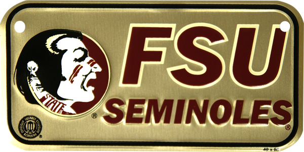 2304 - FSU Seminoles Bike Plate