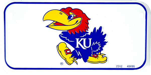 2312 - Kansas Jayhawks Bike Plate